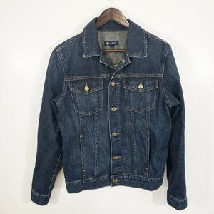 J Crew Dark Wash Denim Trucker Jacket